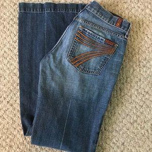 7FAMK dojo flare jeans!! Size 29x31.5